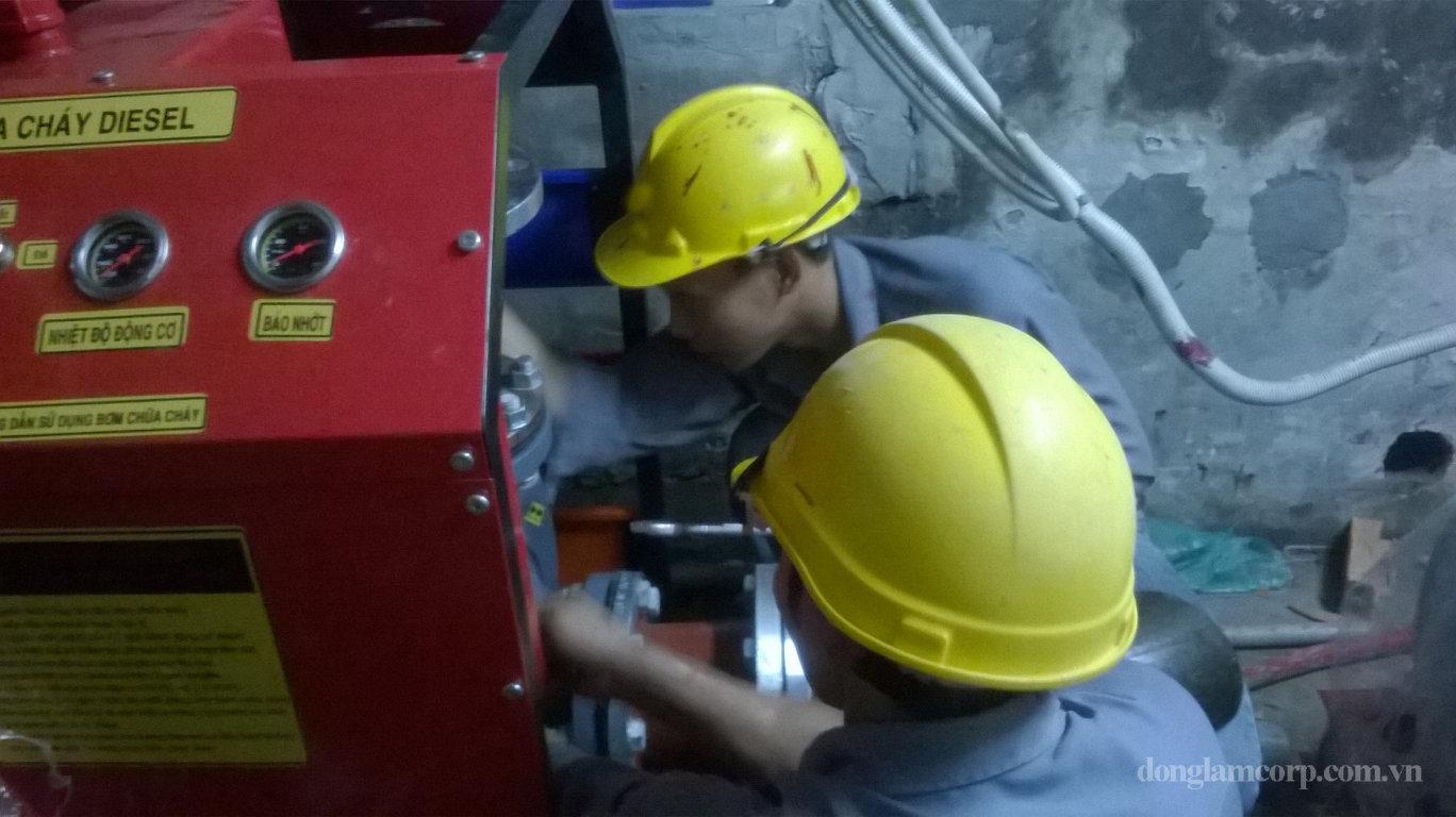 Hình ảnh thi công lắp đặt hệ thống pccc