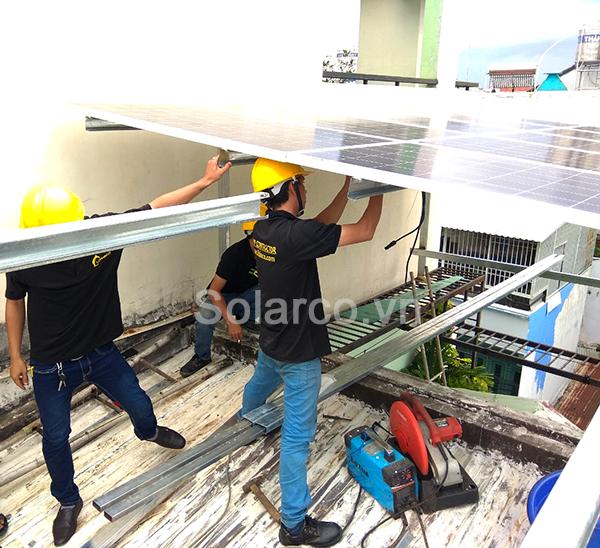 điện mặt trời hòa lưới cho gia đình
